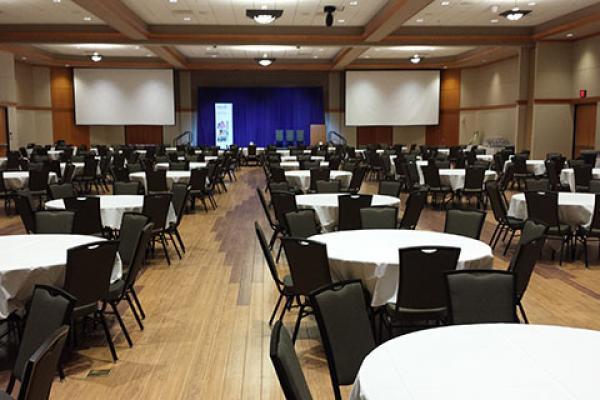 Venue set for a corporate event