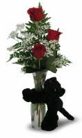 3 Rose Budvase (Red or Yellow)