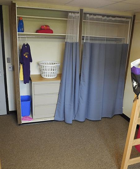 Closet space and dresser