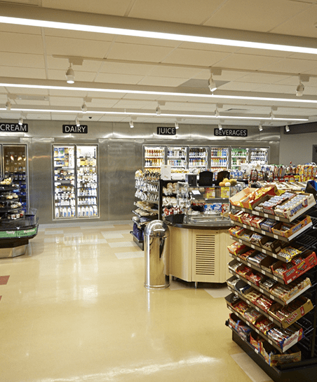 Vast selection of convenience store items.