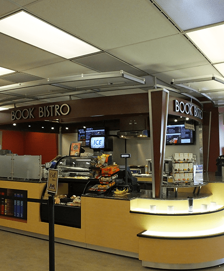 Book Bistro sits near the West entrance of Rod Library