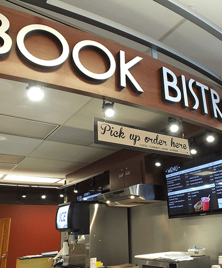 Book Bistro Pick-up Counter