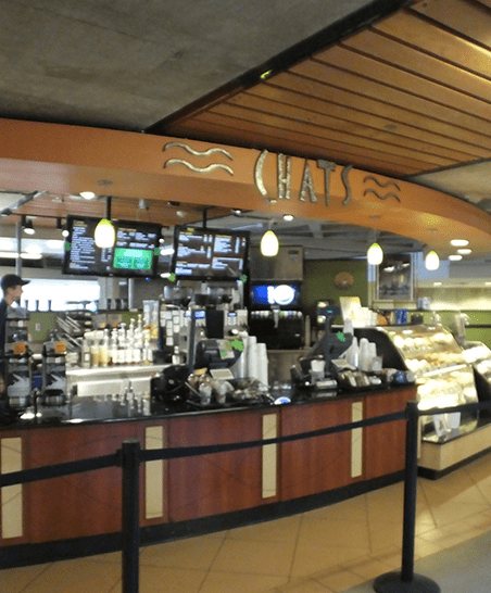 Stop by Chats for a morning or mid-day pick-me-up.