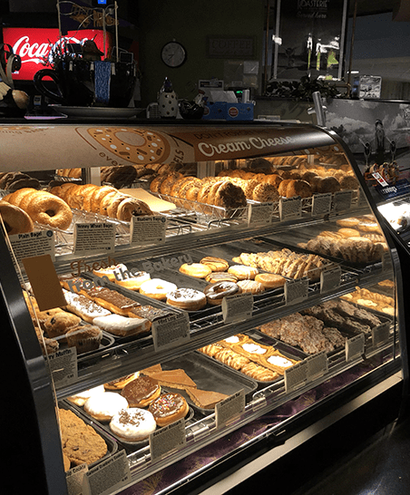 Freshly baked items from our campus bakery, including our Everything Bagels line.