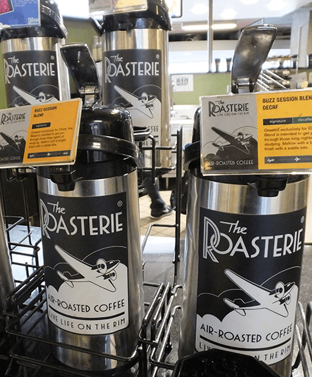 Serving The Roasterie Coffee.
