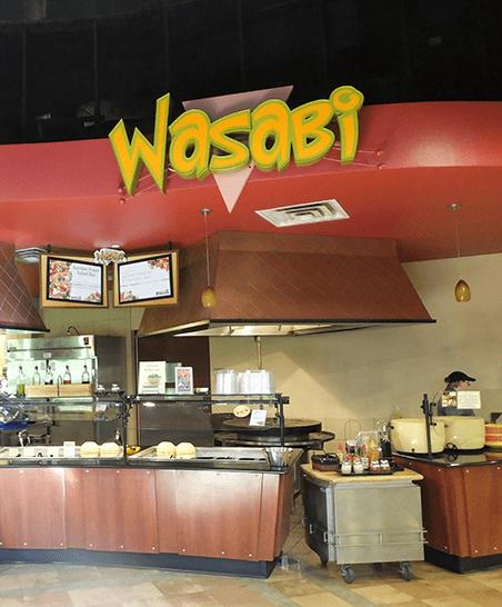 Wasabi mongolian grill and salad bar