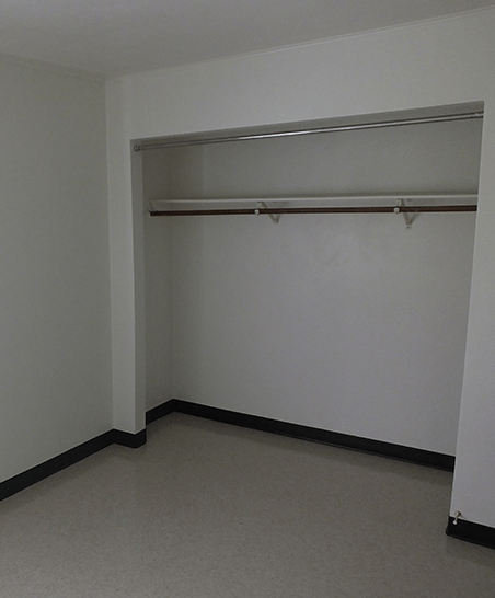 Unfurnished room; each unit has two bedrooms with ample closet space