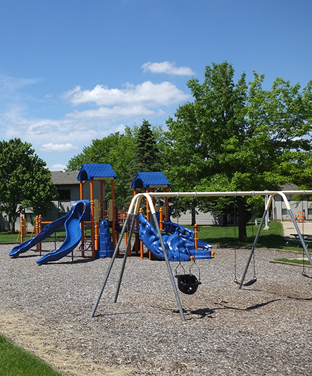 Nice outdoor area for families with children