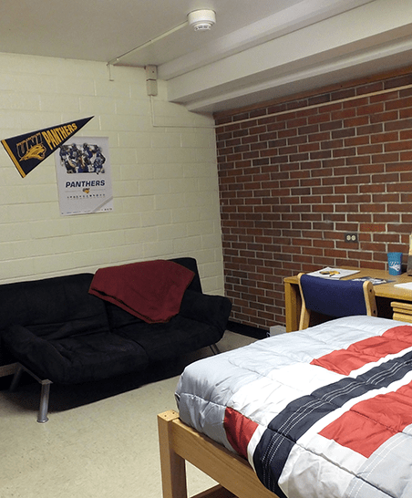 Plenty of space for extra furniture, such as a futon.
