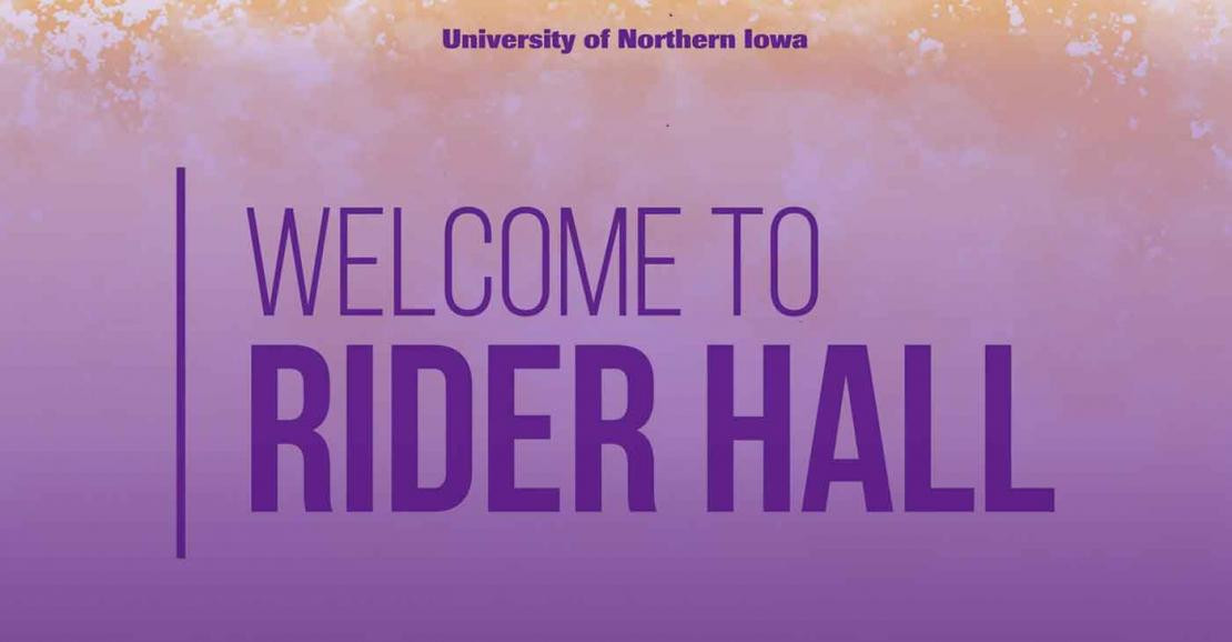 Welcome to Rider Hall