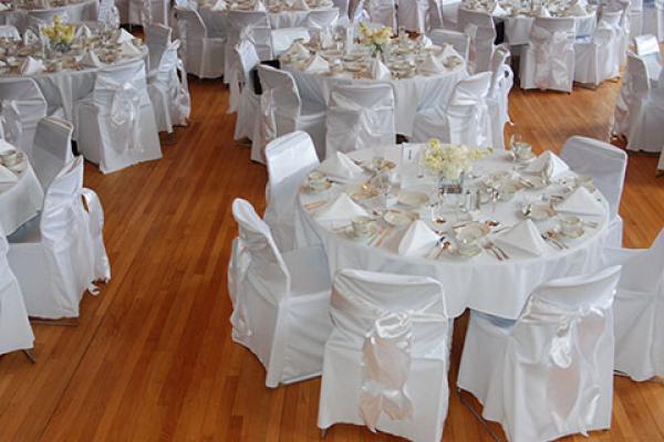 Venue set for a wedding